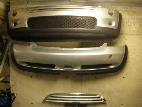 r53 grill bumpers silver pure mini
